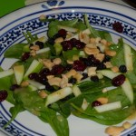Spinach with Apple Salad with Maple Dressing