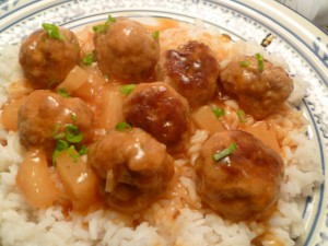 Sweet-and-Sour Pork Meatballs