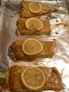 Baked Salmon with Garlic and Dijon 001