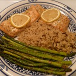 Baked Salmon with Garlic and Dijon 002