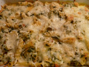 Creamy Butternut Squash and Shrimp Pasta Bake 001