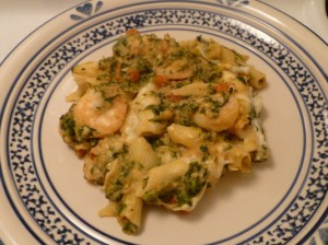 Creamy Butternut Squash and Shrimp Pasta Bake 002