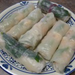 Asparagus, Chard & Soba Summer Rolls with Spicy Peanut Sauce